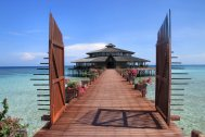 My paradise, a jewel-like tiny island in the Sulu Sea. Lankayan Island, Borneo, Malaysia.