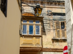 A typical Maltese old balcony, or, at least half of it..