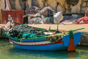 En fiskebåt i den lilla byn Marsalforn.