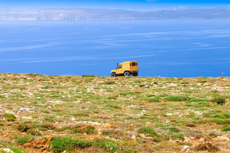 Some prefer to take a jeep to the edge of the steep cliffs while others prefer to walk.